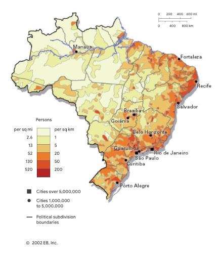popolazione delle città brasiliane