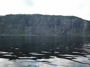 Photo: Rugged cliffs at the entrance to Middle Arm on way to Cox's Covre and Goose Arm.