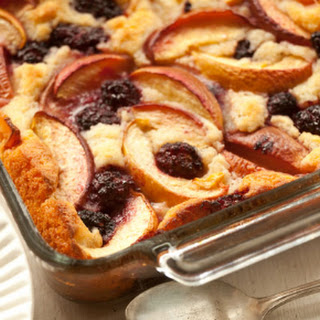 Blackberry and Peach Buttermilk Cobbler
