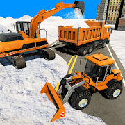 Real Snow Excavator Simulator- Snow Driving Games
