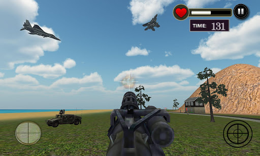 Gunship Bullet Train Battle 3D