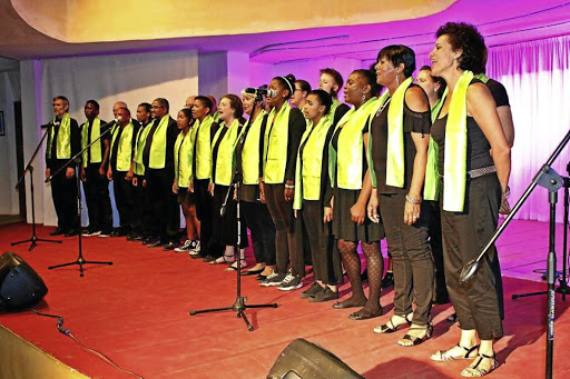 Joy of singing: The collective's Rosa Choir, a crowd favourite, has more than 30 members. Coach Tersia Harley says the songs are chosen to promote unity and that nothing brings people together better than music Picture: SUPPLIED