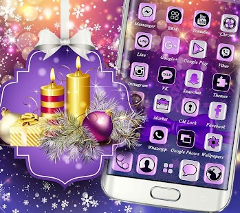 Christmas Gold Violet Theme - náhled