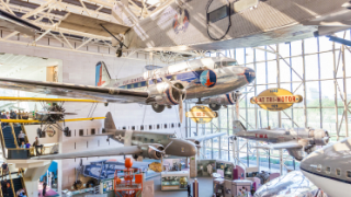 photo of inside the Smithsonian National Air & Space Museum
