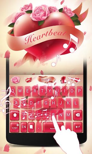 Heart beat GO Keyboard Theme screenshot