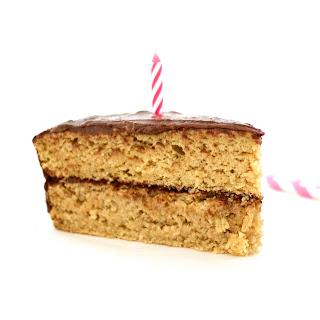 Double-Layered Vanilla Birthday Cake (Vegan, Gluten-Free, Low-Fat, Sugar-Free!) Recipe