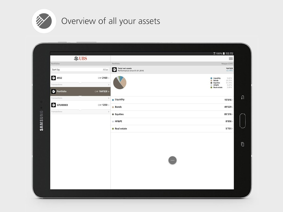 UBS Mobile Banking: e-banking for on the go- screenshot