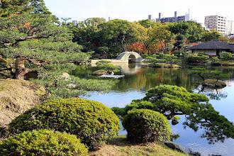 Photo: Vaikkakin vierailimme japanilaisissa puutarhoissa myös Kiotossa, tämä Shukkeien oli mielestämme näkemistämme puistoista kaunein!