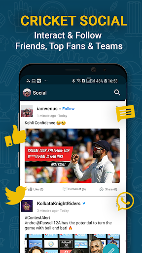 Cricnwin: Live Cricket Scores ,Play,Chat with Fans 5.31 screenshots 5