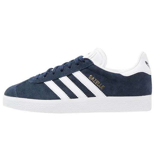 adidas Originals Gazelle Collegiate Navy/ White/ Gold Metallic Stl: 39 1/3