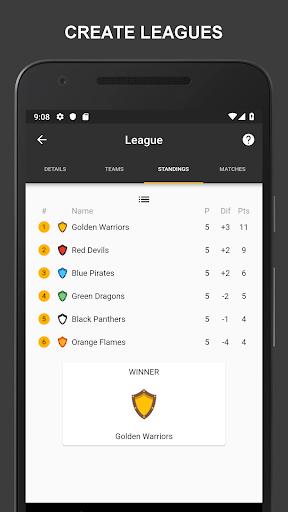 Winner - Tournament Maker App, League Manager 4.6.4 screenshots 2