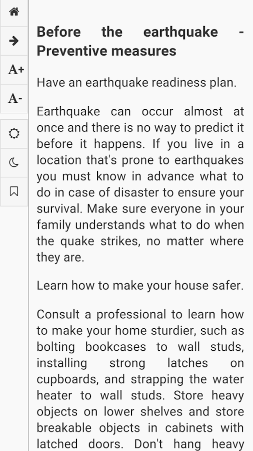 Earthquake survival tips android apps on google play for Where do you go in an earthquake