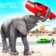 Angry Elephant City Attack: Wild Animal Games