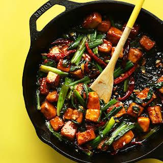 General Tso's Tofu Stir-Fry.