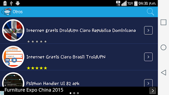 internet gratis android 2017 Screenshot