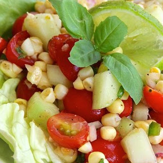 Easy Cherry Tomato Corn Salad