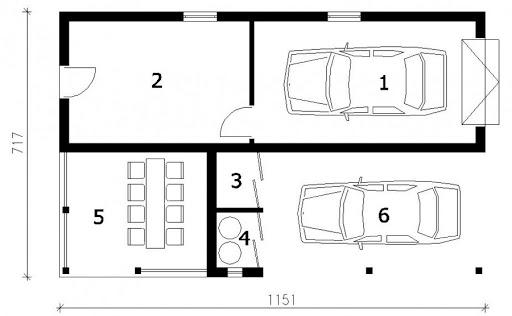 G167 - Rzut garażu