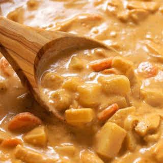 Homemade Massaman Curry.