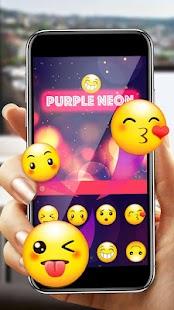 Purple Neon Keyboard - náhled