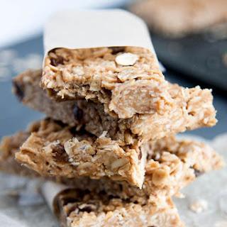 No-Bake Peanut Butter Oatmeal Granola Bars.