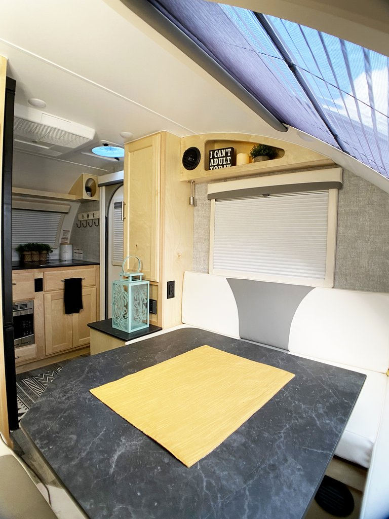 interior of mini max camper