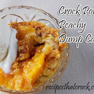 Crock Pot Peachy Dump Cake.