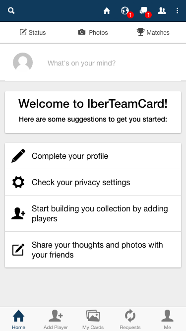 IberCup Social Network- screenshot