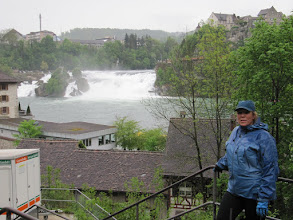 Photo: Day 32 - Wet & Soggy at the Rheinfalls!
