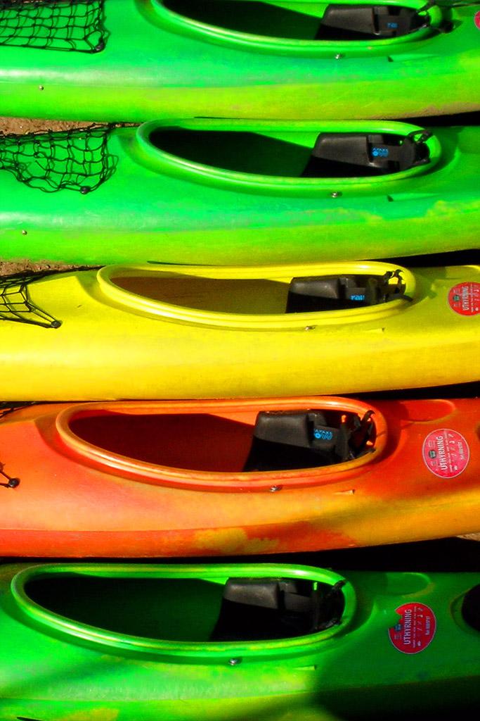 Canoe a colori di tapio
