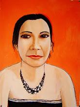 "Photo: Portrait of Alaina 29"" x 22"" Acrylic on BFK Rives"
