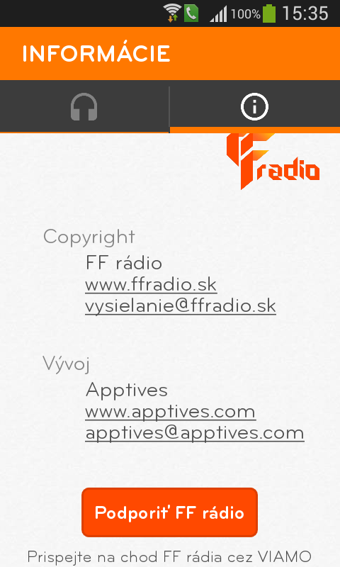 FF rádio- screenshot