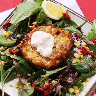 Roasted Corn Crab Cakes with Chili Lime Sauce