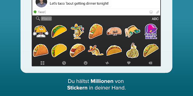 Fleksy- Emoji & GIF Tastatur Screenshot
