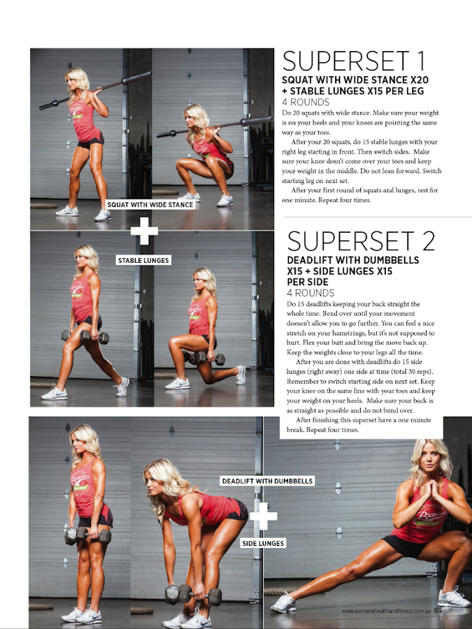 Women's Health & Fitness- screenshot