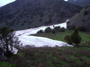 Photo: Abshir, spring, avalanche