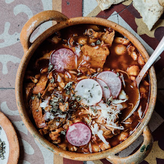 Red Posole with Pork.