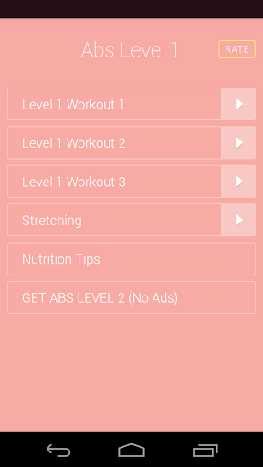 Bodyweight Ab Workouts Level 1