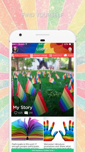 LGBT+ Amino Community and Chat 2.2.27032 screenshots 1