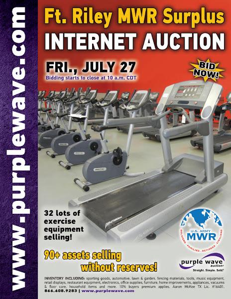 Photo: Ft. Riley MWR Surplus Auction July 27, 2012 http://purplewave.co/120719