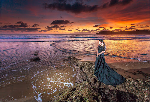 black beauty by Wb Wilapa - People Portraits of Women ( sky, beach, sunset, sunsets, model, water, photography, fashion,  )