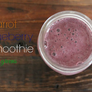 Carrot Blueberry Smoothie - With Greens.