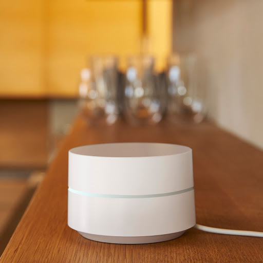 Google Wifi on shelf
