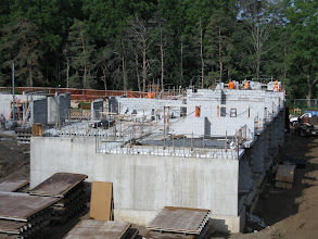 Photo: 2nd floor north wing masonry wall construction underway July 27, 2012