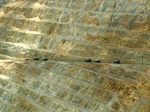 Photo: Ore trucks inside a large copper (and other metal) mine near Salt Lake, Utah.