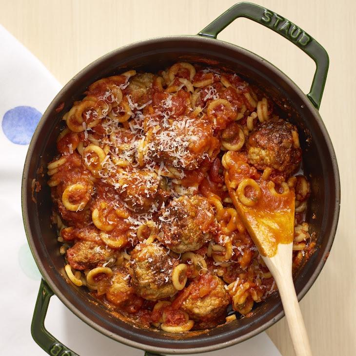 One-Pot Meatballs & Pasta Os Recipe