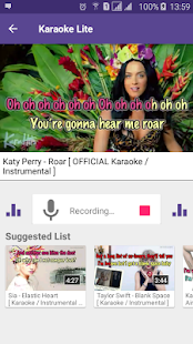 Karaoke Lite : Sing & Record Free Screenshot