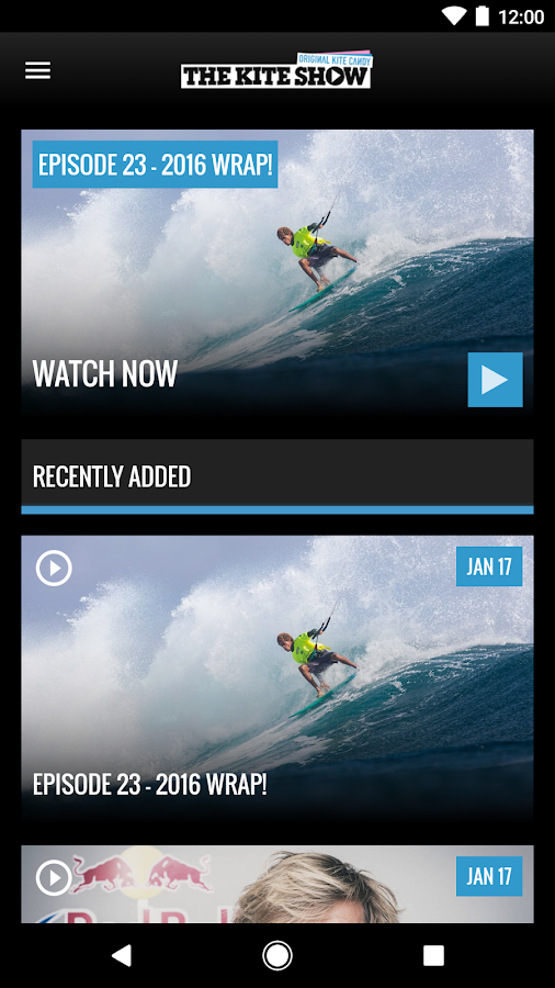 The Kite Show - kitesurfing TV- screenshot