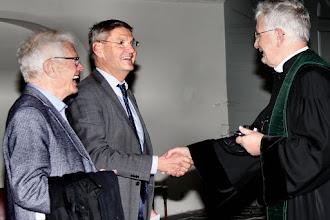 Photo: Begroeting van Kees Jan de Vet, burgemeester van Culemborg