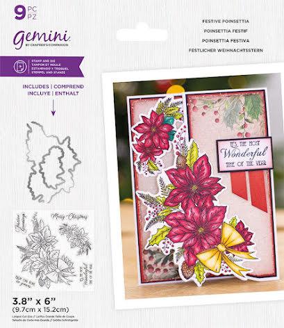 Gemini Stamp & Die - Festive Poinsettia