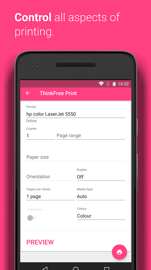 ThinkFree Print- screenshot